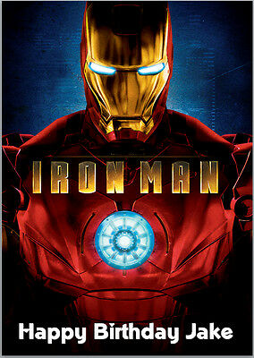 Iron Man Avengers Birthday Card A5 Personalised With Own Words • 3.89£