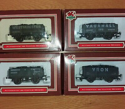 4 Dapol 00 Private Owner Coal Wagons North Wales Ltd Editions Free Post UK  • 29.50£