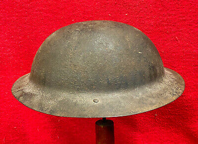 Ww1 Mk1 1915 British Steel Helmet Raw Edge Shell,bs  (scottish) Good Original. • 125£