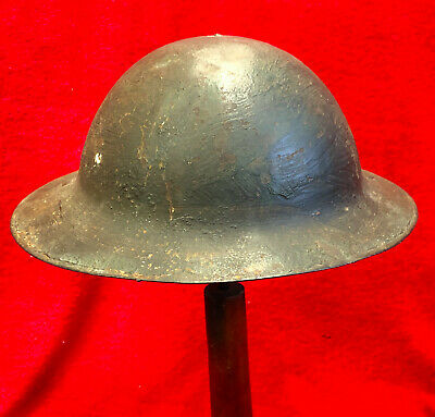 Ww1 British Army Steel Helmet Part Liner Section & Half Chinstrap,all Original.  • 175£