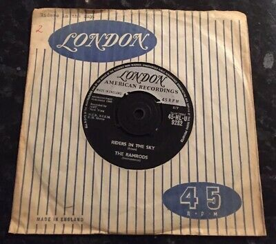 RAMRODS, RIDERS IN THE SKY / ZIG ZAG, LONDON 7INCH 45RPM - Acceptable Condition • 0.50£