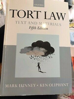 £3.50 • Buy Tort Law Text And Materials By Mark Lunney And Ken Oliphant Book 9780199655380