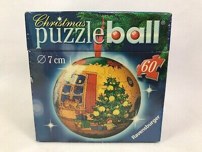 $14.99 • Buy Ravensburger Christmas Ornament Puzzle Ball 60 Piece 7cm Round Tree Presents Cat