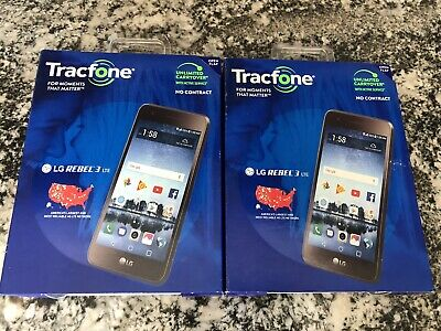$ CDN132.55 • Buy Lot Of 2 Tracfone LG Rebel 3 Cell Phones - BRAND NEW/SEALED!