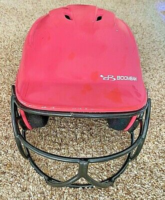 $14.95 • Buy **NICE** Girls Under Armour Boombah Batting Helmet W/ Face Guard--Softball--PINK