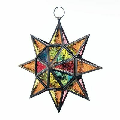 $30.99 • Buy Gallery Of Light Multi Faceted Colorful Star Lantern - 10018326