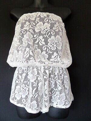 Primark Ocean Club Cream Lace Playsuit - Size ? ( 44  Bust ) - Worn Once • 7£