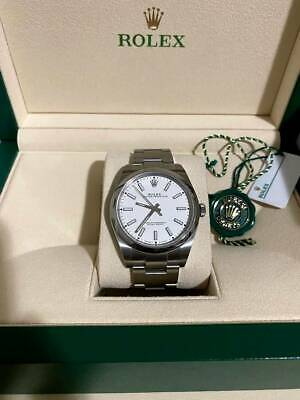 AU8200 • Buy Rolex Oyster Perpetual 39mm White (Ref 114300)