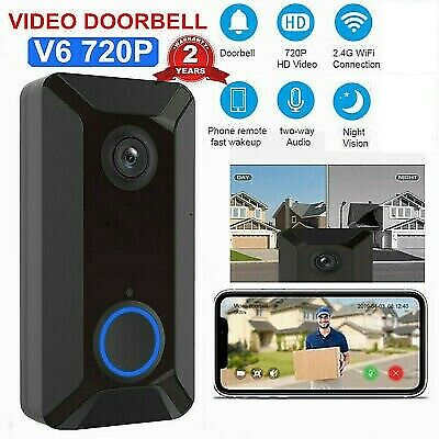 Wireless WiFi Video Doorbell Smart Phone Door Ring Intercom Camera Bell Security • 26.89£