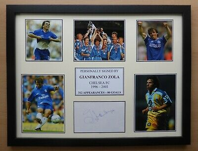 Gianfranco Zola Signed Chelsea Multi Picture Career Display (16952) • 35£