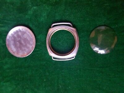RARE 1920's JW Benson London Solid Silver Watch Case + Glass + Case Back Antique • 29£