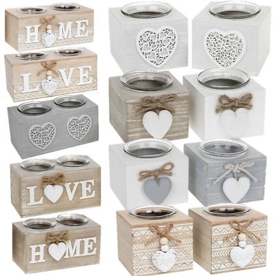£8.99 • Buy Tea Light Holder Provence Wooden Tealight Candles Shabby Chic Gift Home