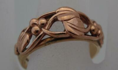 Genuine Tree Of Life Ladies CLOGAU Yellow & Rose 9ct Gold Ring Sz O £660 (RU1 • 102£