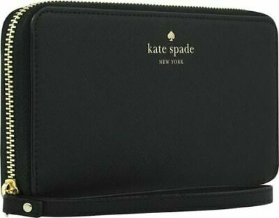 $ CDN27.18 • Buy Kate Spade Zip Wristlet Case Wallet Purse For Smart Phones Black Saffiano - NEW