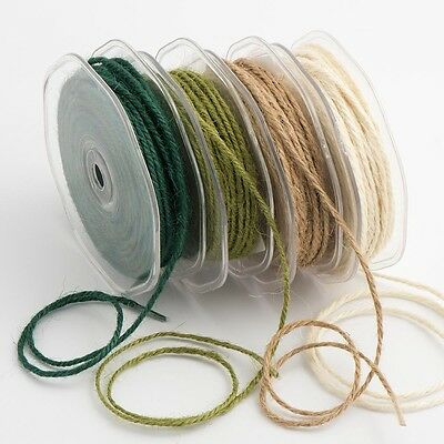 2mm HESSIAN STRING Burlap Twine Rustic Shabby Chic Vintage Ribbon 2m Or 20m • 1.39£