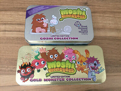 Moshi Monsters Collecions. Limited Editions Blue And Gold. Toys.  • 8£