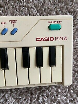 $14 • Buy Casio Electronic Keyboard PT-10 Vintage Mini Portable Piano 1980's WORKING