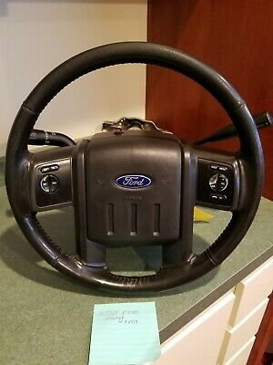 $399 • Buy Steering Wheel Column Black Lariat Leather 2008 2009 2010 Ford F250 F350 F450
