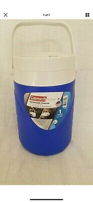 $7.99 • Buy Coleman Beverage Cooler 1 Gallon Jug Water Ice Chest Insulated Blue Thermos New