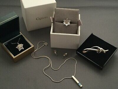 9ct Gold And Silver Jewellery Job Lot,clogau Diamond Ring-p,danish Silver+more • 110£