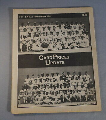 $1 • Buy 1982 Cpu Card Prices Update Baseball Card Magazine - All Star Teams On Cover