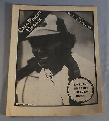 $1 • Buy 1982 Cpu Card Prices Update Baseball Card Magazine - Tim Raines Expos On Cover