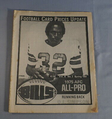 $1 • Buy 1982 Cpu Card Prices Update Football Card Magazine - O.j. Simpson Bills