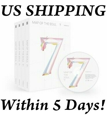 $23 • Buy US SHIPPING BTS-[Map Of The Soul 7] CD+Poster+Book+Lyric+Card+Post+Sticker+Paper