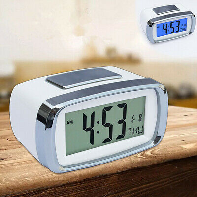 AU12.66 • Buy Silent Digital LED Alarm Clock Bedside Battery Operated Desktop Clock For Kids