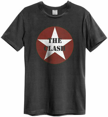 Amplified The Clash Star Logo Charcoal T-shirt  • 16.95£