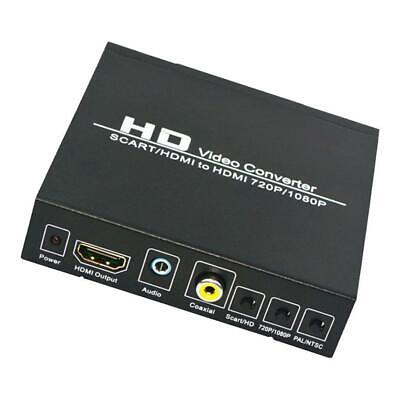 Scart To HDMI Converter 720P 1080P Scaler S-Video R/L Audio To HDMI Adapter Box • 18.96£