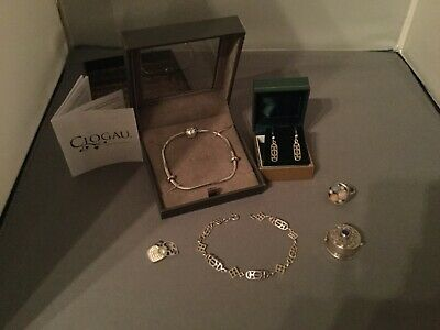 Clogau Rose Gold And Silver Bracelet, Plus Other Silver Items, E/r, Box,ring Etc • 115£