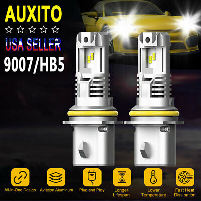 $40.90 • Buy B3 Pair 9007 HB5 LED Headlight Bulb 200W 24000LM High Low Beam 6500K For NISSAN