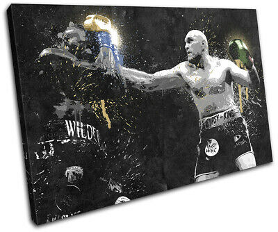 Tyson Fury Wilder Boxing Grunge Sports SINGLE CANVAS WALL ART Picture Print • 24.99£