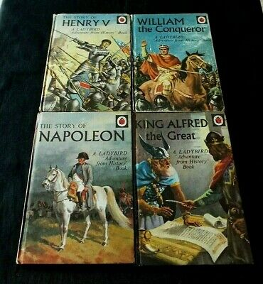 £9.95 • Buy 4 X LADYBIRD BOOKS: ALFRED THE GREAT; WILLIAM CONQUEROR; NAPOLEON; HENRY V