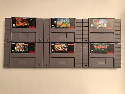 $ CDN100 • Buy Lot Of 6 SNES (Super Nintendo) Games: Mario, Kirby, Goof Troop, Lion King +++