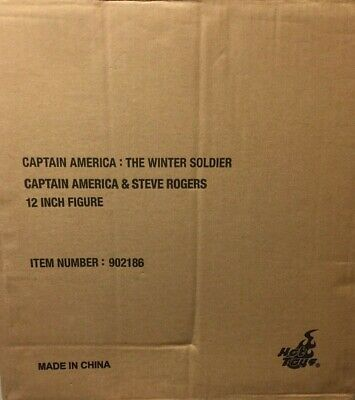 $430 • Buy Hot Toys MMS243 1/6 Captain America & Steve Rogers Collectible Figure Set