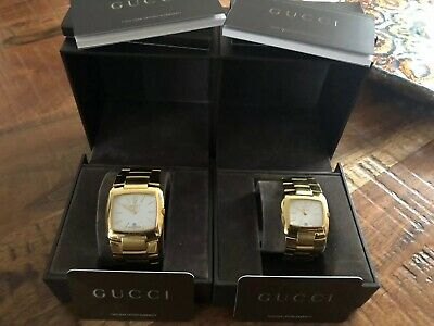Gucci Watch / Watches X2 His / Hers 8500M / 8500L Gold Plated. SWISS MADE. • 500£