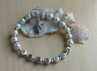 First Holy Communion Gift, Or Confirmation Present. Personalised Bracelet Option • 7.99£
