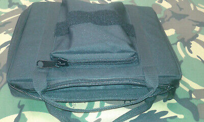 Airsoft Padded Pistol Case.  Tactical Black Case For Multiple Pistols. UK Made. • 20£