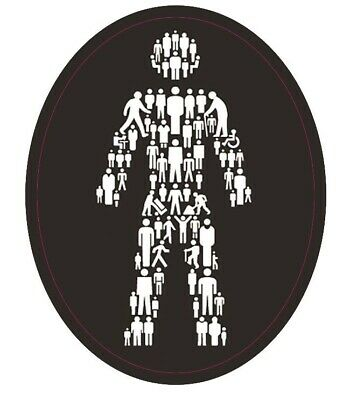 £4.49 • Buy Prostate Cancer Man Of Men Pin Badge And Car Sticker