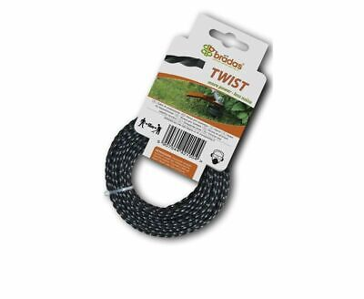 HEAVY DUTY TWIST STRIMMER LINE 1.6mm X 15M  FOR PETROL STRIMMERS WIRE CORD • 2.99£