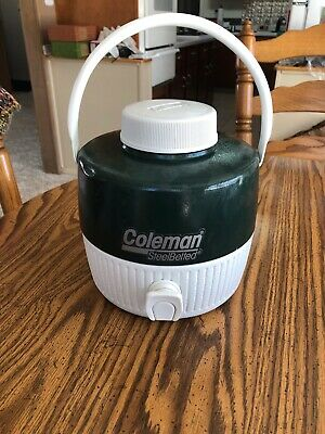 $16 • Buy Coleman Steel Belted Water Jug Green 1 Gal. With Spout Very Clean And Odorless