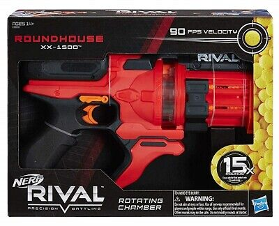 AU69.95 • Buy Nerf Rival Blaster ROUNDHOUSE XX-1500 Red Blaster + 15 Rounds IN STOCK FAST POST