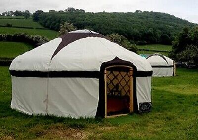New 20ft Roundwood Yurt Made With Welsh Coppice And Quality Canvas Made To Order • 7,800£