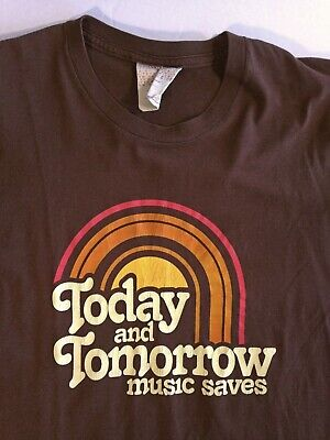 $ CDN24.99 • Buy Vintage 90's Music Saves T-Shirt Unisex Ubiquity Records 70's Look Made USA - S