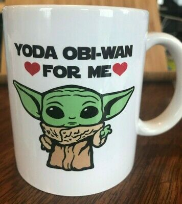 $12 • Buy  Baby YODA OBI-WAN For Me - Coffee Mug/Cup 11oz Double Sided SEALED! SHIPS FREE!