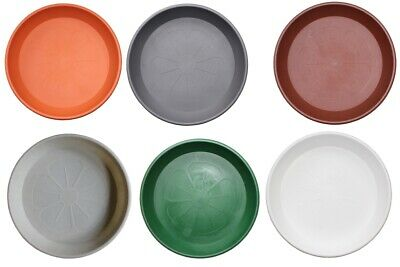 £3.49 • Buy Plant Flower Strong Pots Saucers Water Trays Plastic Round Heavy 12 Cm - 32 Cm