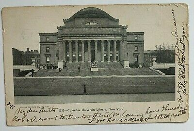 $5.99 • Buy 1907 NY Postcard New York Columbia University Library Building Steps Front View