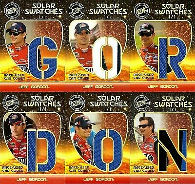 $1824.24 • Buy Jeff Gordon 2009 Press Pass Race-Used Car Cover Spells Name Outlined In Gold 1/1